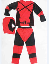 Deadpool Costume For Kids Role-Playing Deadpool Costume Cosplay Long
