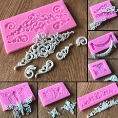 Lace Pattern Border Decor Silicone Cake Mold Retro Roma Relief