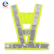 High Safety Security Visibility Reflective Stripe Vest Gear Green