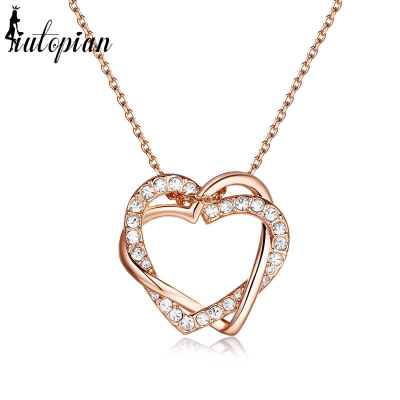 Iutopian heart shape love pendant necklace day gift for birthday iutopian heart shape love pendant necklace day gift for birthday anti allergy ra34101 aloadofball Image collections