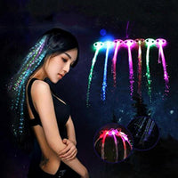 Colorful LED Glowing Flash Wigs Hair Braided Clip Hairpin Tiara Crowns Show Year Party Jewelry Supplies gift SL