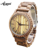 2018 Classical Wood Watches Watch Fashion s Watches Top Brand Luxury Quartz Watches Wooden Wristwatches Unisex Gift