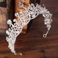 Silver Bridal Hair Accessories For Wedding Crystal Rhinestone Queen Tiara Crown Baroque Hair Jewelry Ornats