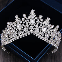 Rhinestone Bridal Tiaras Crown Baroque Full Crystal Diadem Bride Headbands Wedding Hair Jewelry Dress Accessories