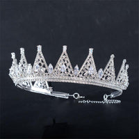 Adjustable Luxurious Zirconia Rhinestone Bridal Tiara Crown Diadema Hair Ornats Wedding Bride Hair Jewelry Accessories