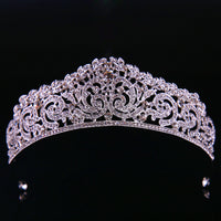 Prom Wedding Bridal Bridesmaid Tiara Crown Headband Heart Girls Crystal Rhinestone Jewelry hair Accessories Bride Head Ornat