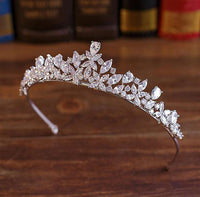 Full CZ Tiara Set Bride Cubic Zircon Crown Diadem Wedding Hair Accessories Jewelry Bijoux Tiaras Crowns Coroa De Novia WIGO1028S