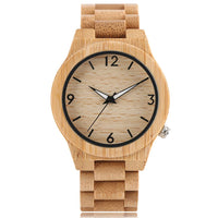 Hot Bamboo Watches Nature Full Wood Sport Wrist Watch Handmade Modern 2018 New Arrival Fashion Fold Clasp Creative Best Gift