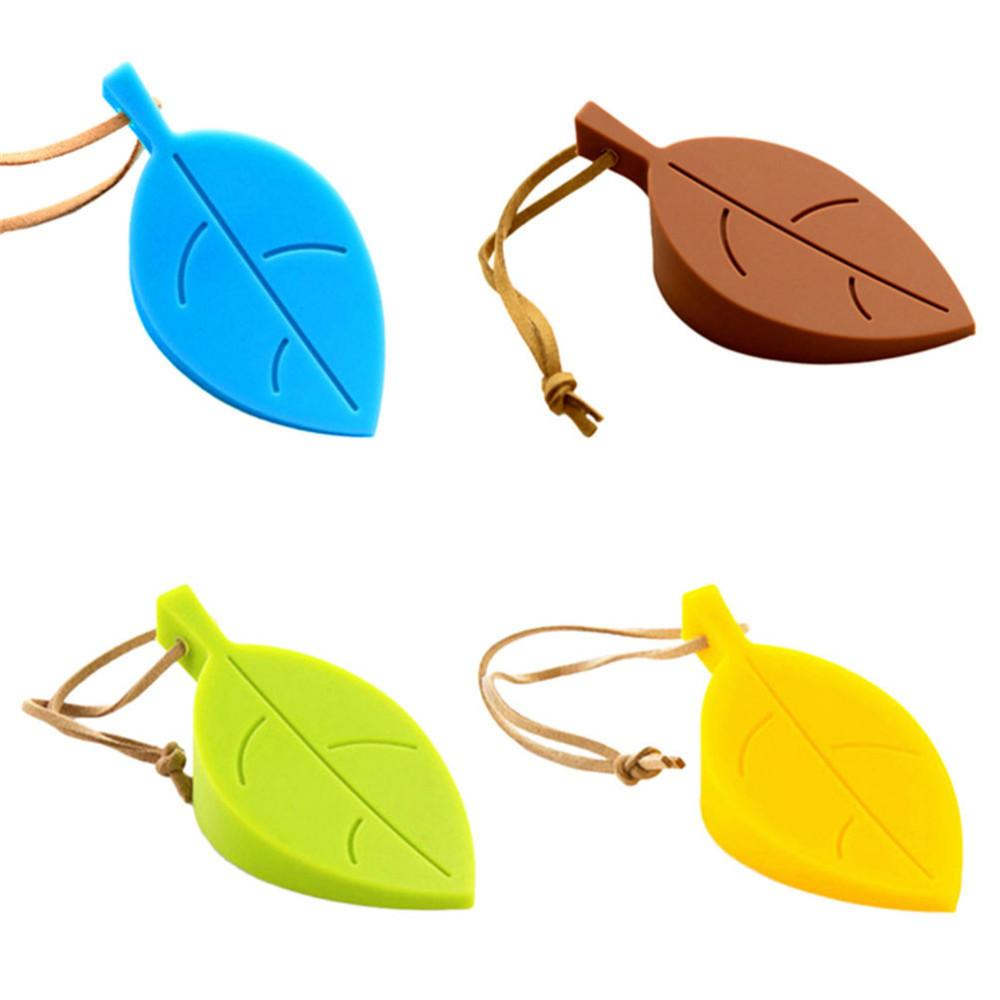 1PCS Cute Cartoon Leaf door stopper Silicon Doorstop safety baby