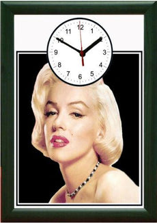 Marilyn Monroe Picture Wall Clock framed