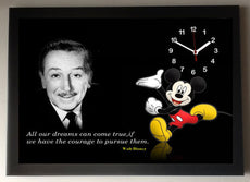 Walt Disney Classic Picture Clock framed
