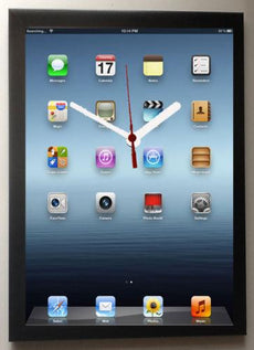 IPAD WALL CLOCK framed