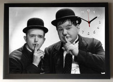 Laurel and Hardy Picture Wall Clock framed