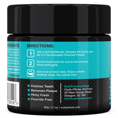 Activated Charcoal Natural Teeth Whitening Polish