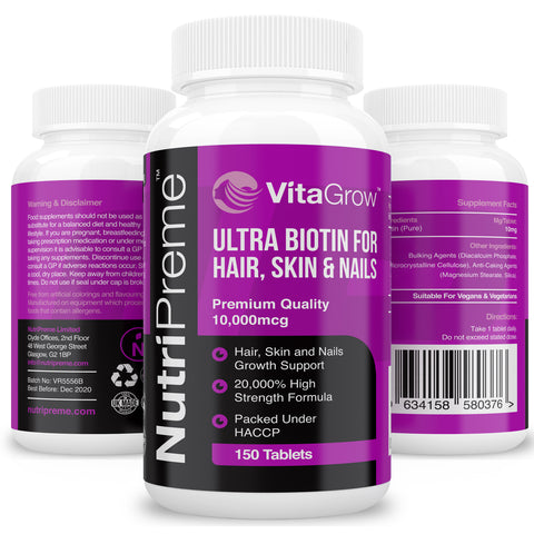 Biotin Hair Growth Supplement 10,000MCG (5 Month Supply)