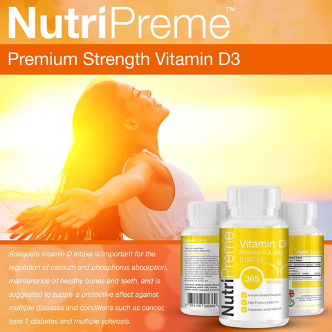 Vitamin D3 5000IU (1 Year Supply)