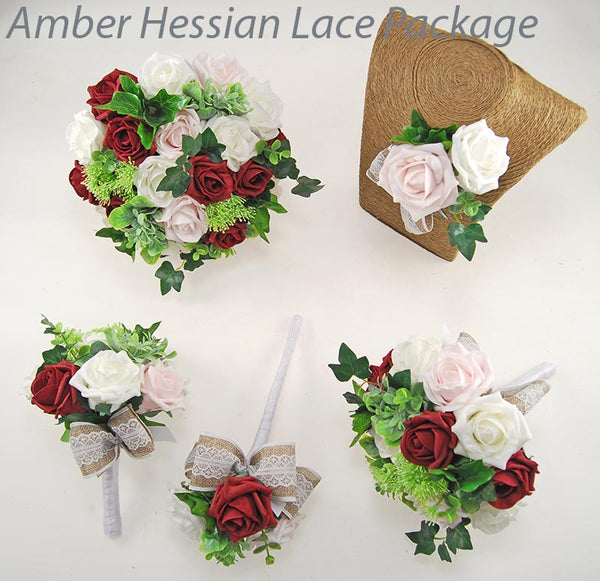 Amber Hessian Lace Package