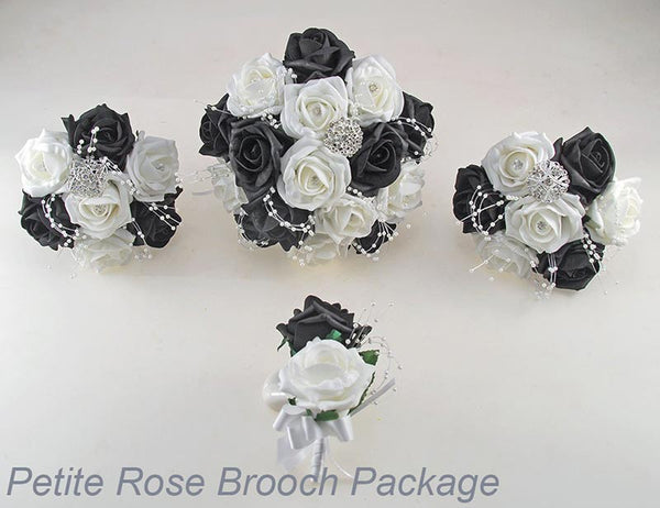 Petite rose and brooch package
