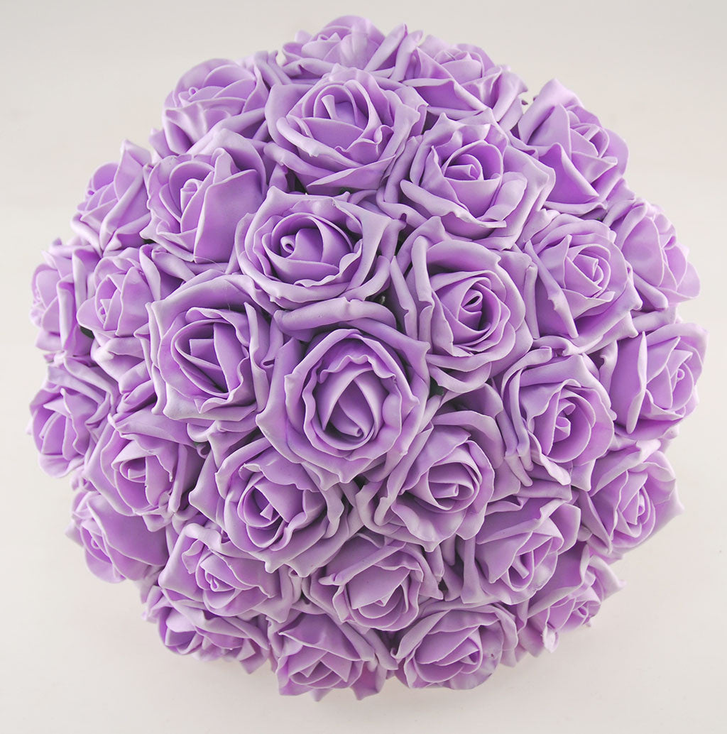 Wedding Flowers On A Budget Uk: Lilac & Ivory Rose Amelia Wedding Flower Package With