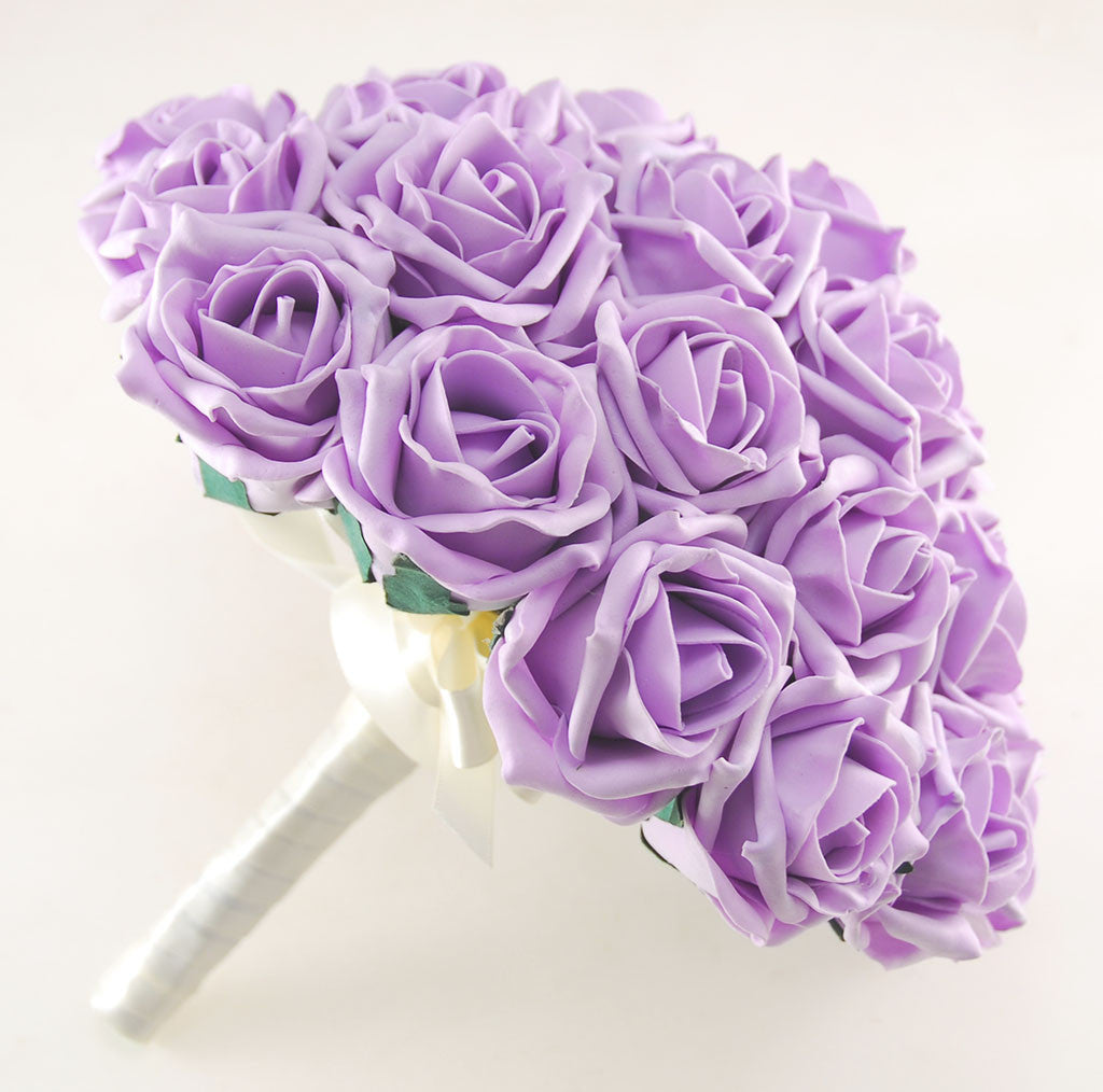 Wedding Flowers Lilac: Lilac & Ivory Rose Amelia Wedding Flower Package With