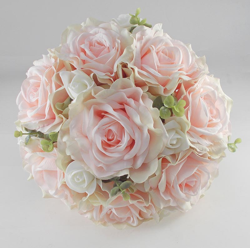 Wedding Flowers On A Budget Uk: Large Brides Pink Silk Rose Wedding Bouquet, With