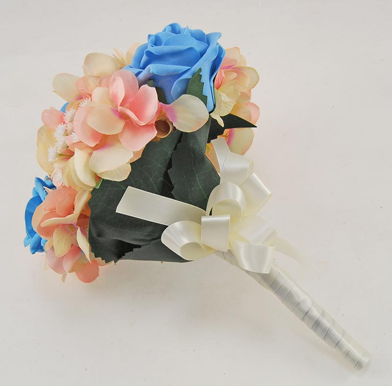 Rihanna Pink Hydrangea Gypsophila Turquoise Rose Wedding Package