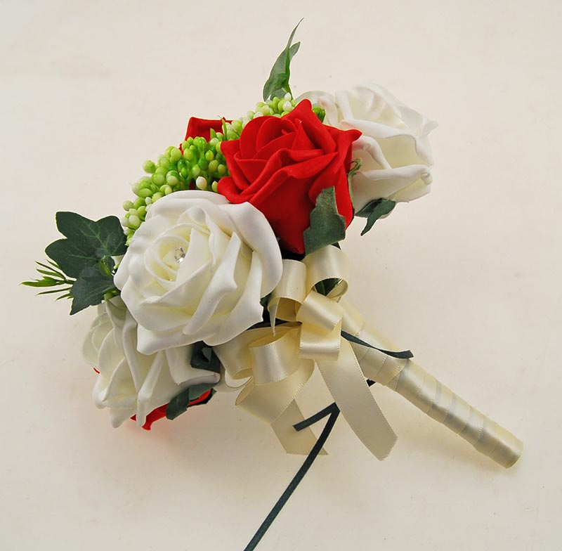 Ivory, Red Diamante Rose, Green Berry & Ivy Agatha Wedding Package
