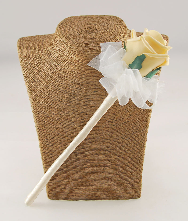 Classic Foam Rose Flower Girl Wand, Pick Your Own Colour