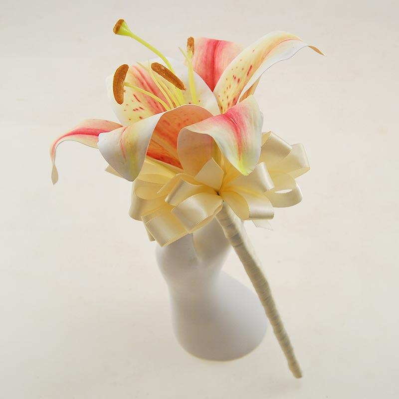 Flowergirls Artificial Pink Tiger Lily Wedding Wand
