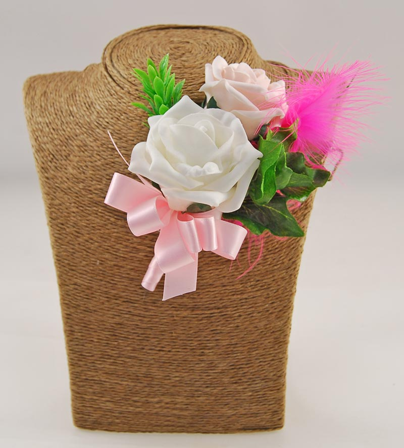 Pink Silk Stargazer Lily & Pink Mocha Nadine Feather & Lily Package