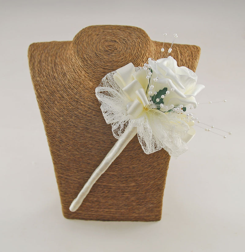 Ivory Vintage Inspired Wedding Wand Available in other Colours