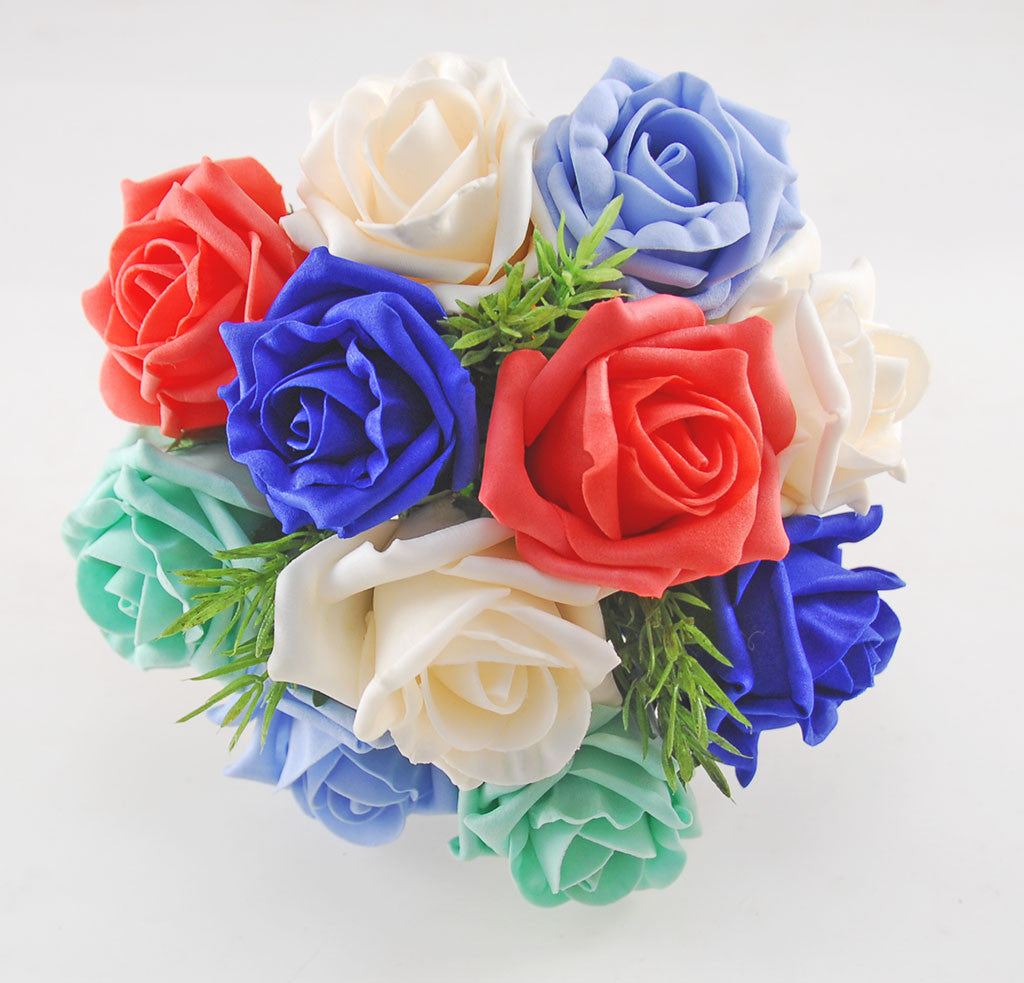 Wedding Flowers On A Budget Uk: Kaleidoscope Foam Rose Wedding Flower Package With Royal