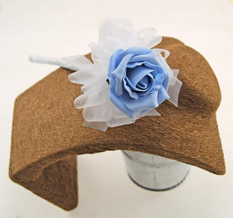 Light Blue Foam Rose Flower Girl Wedding Wand