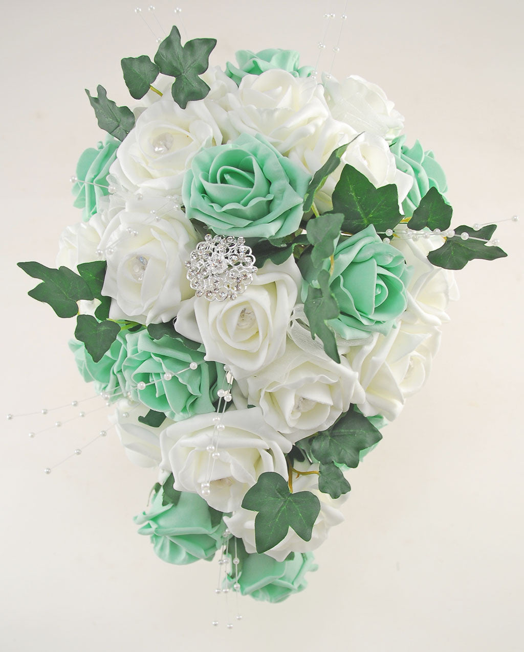 Mint ivory rose evie wedding shower package brides shower mint ivory rose evie wedding shower package brides shower bridesmaids bouquet flower girl posy wand grooms buttonhole izmirmasajfo