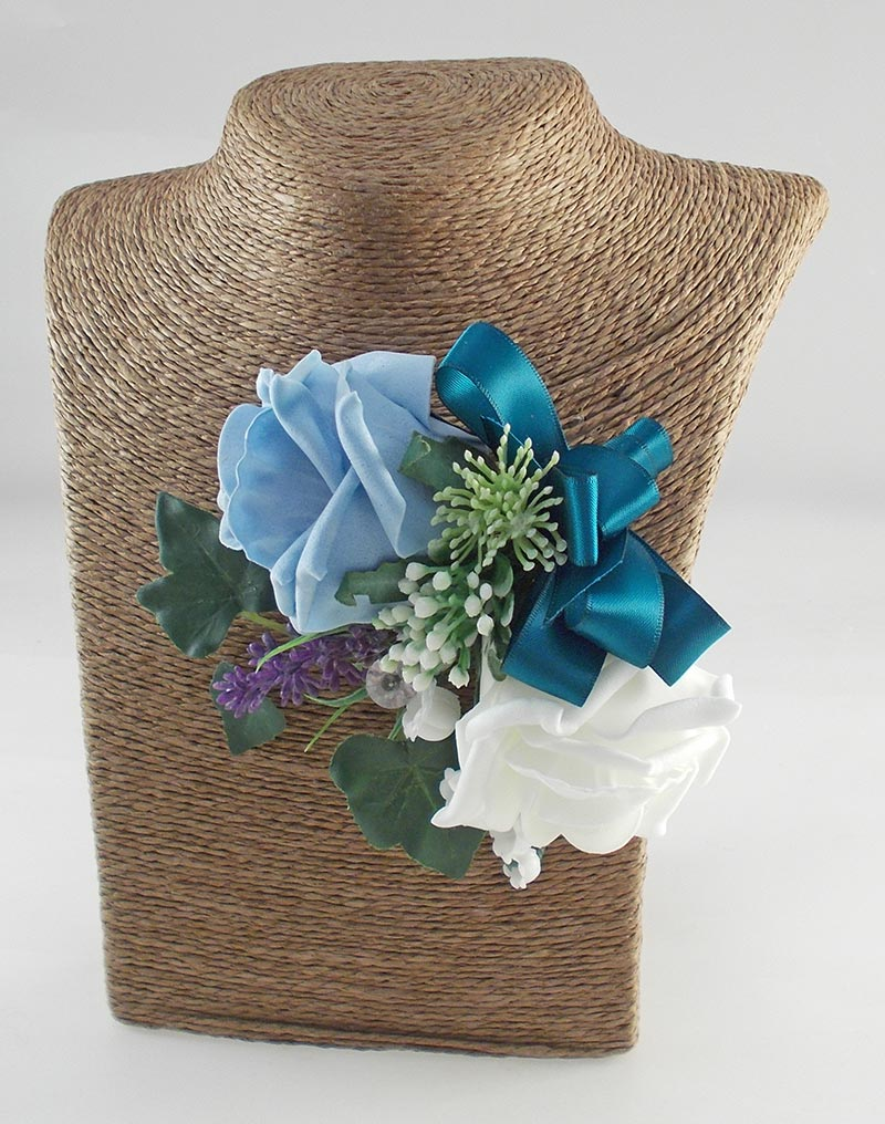 Naomi Mint Green, Light Blue, Ivory Rose, Lavender & Lily of the Valley Wedding Package