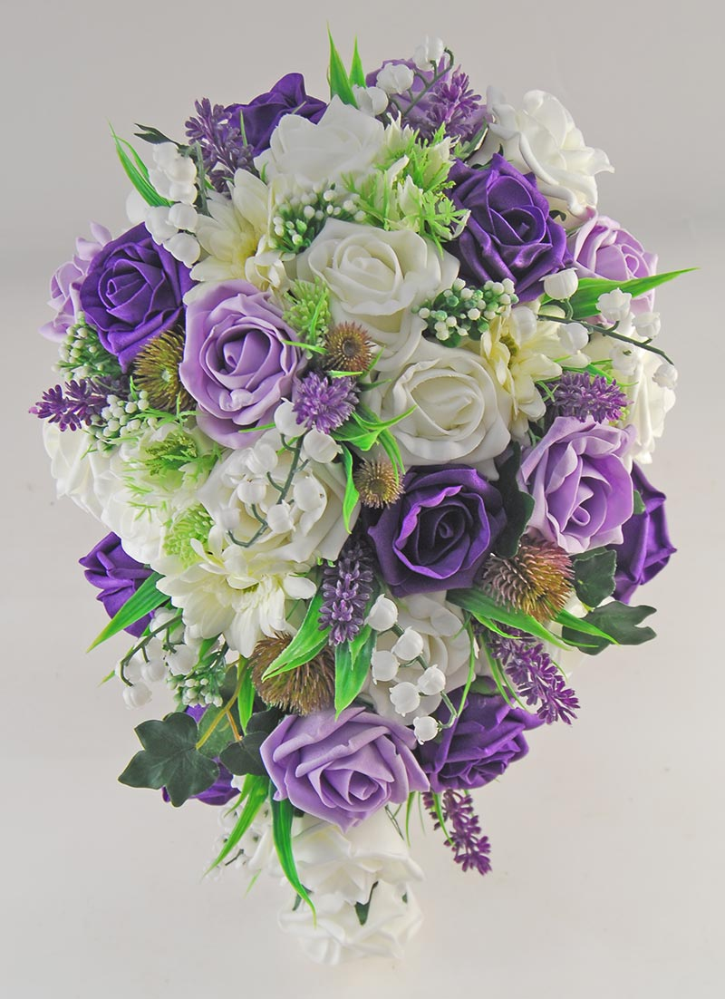 Naomi Purple & Lilac, Ivory Rose, Lavender & Lily of the Valley Wedding Package