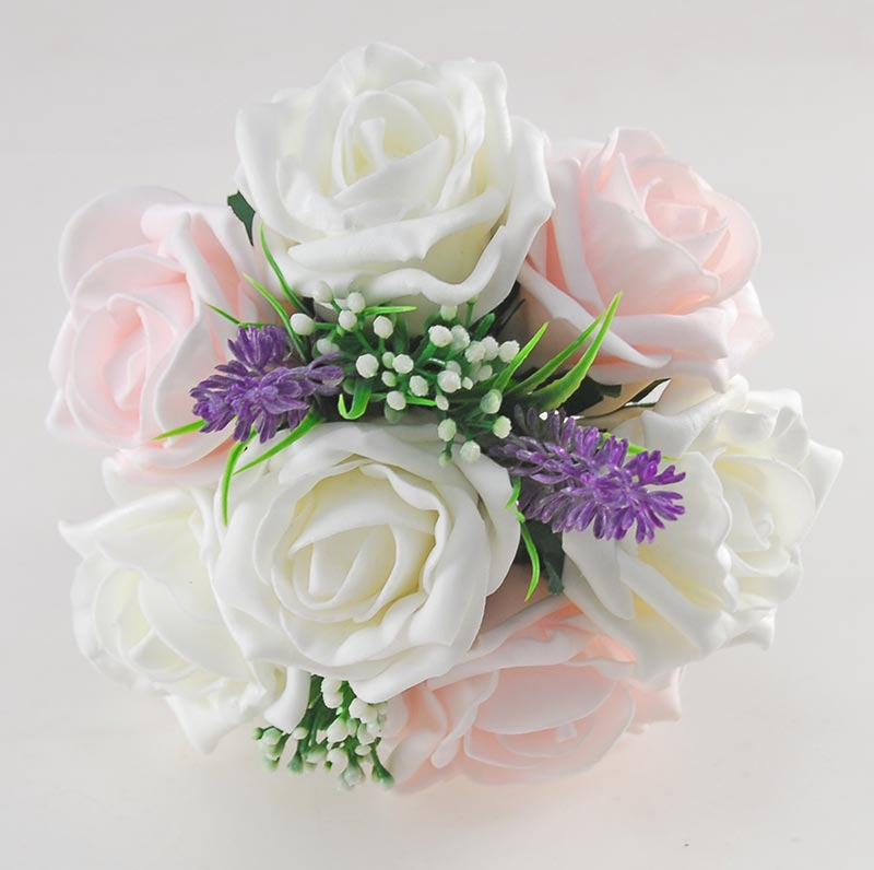 Phoebe Purple Peony, Calla Lily, Ivory & Light Pink Rose Wedding Flower Package