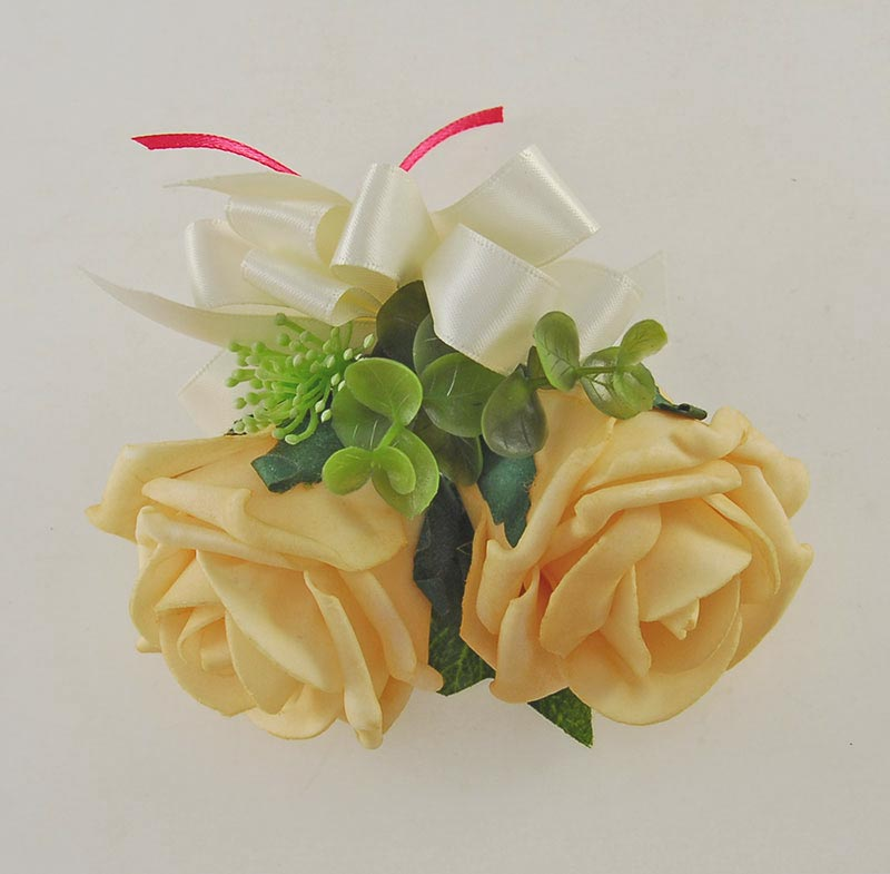Pink, Ivory Silk Peony & Mango Foam Rose Grace Wedding Flower Package