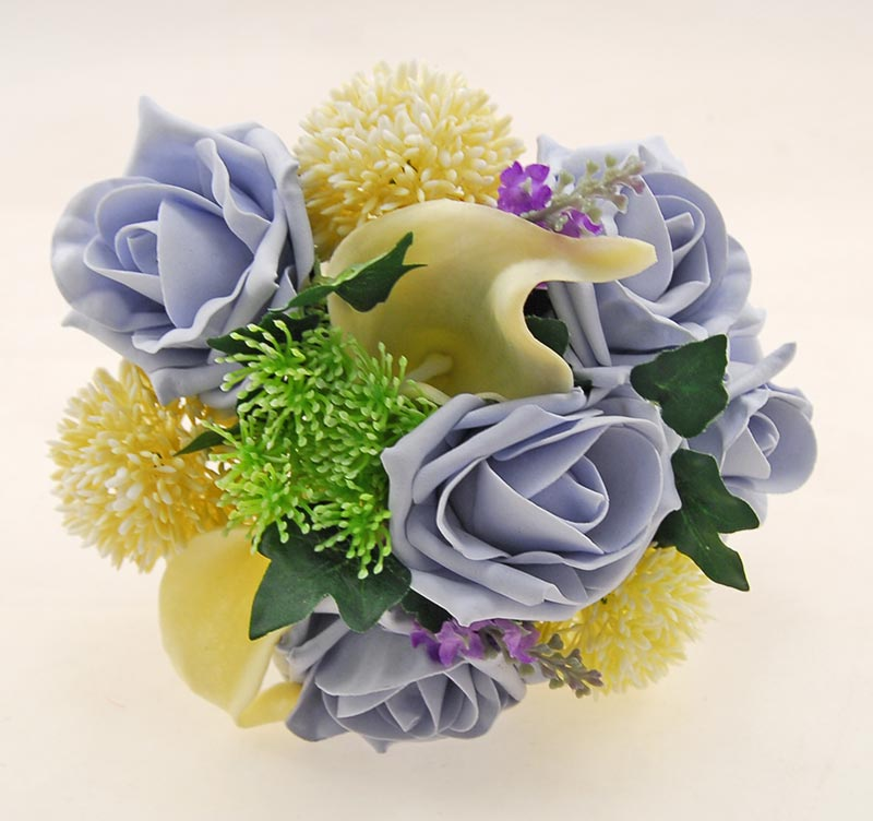 Tabitha Ivory Peony, Calla Lily, Allium, Purple Silk Lavender & Steel Blue Rose Wedding Package
