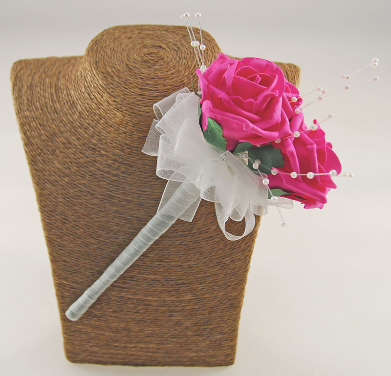 Triple Rose Wedding Wand Available in other Colours