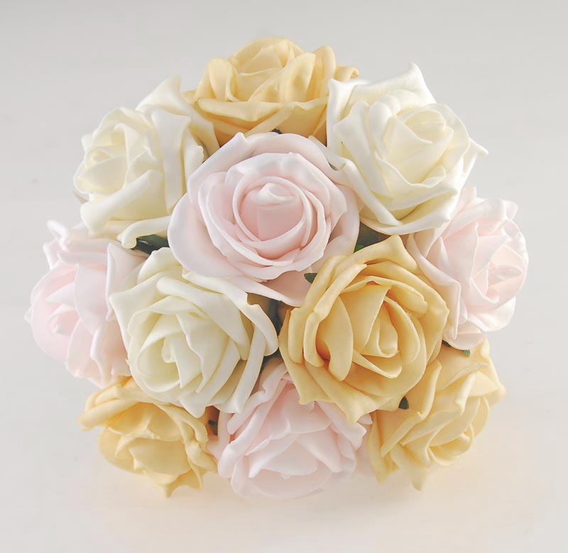 Vanessa Light Mango, pink, Cream Rose & Handle Name Charm Wedding Package