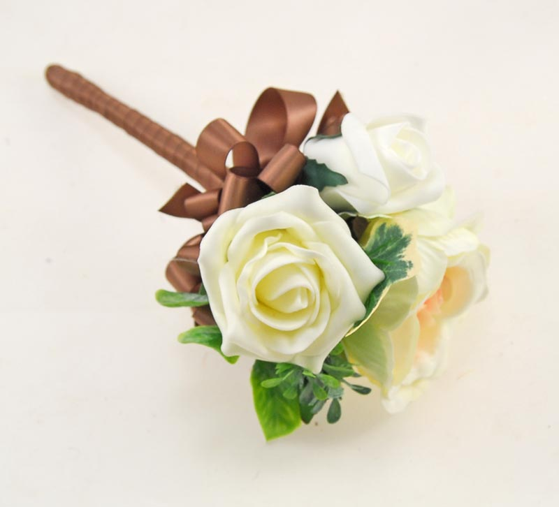 Yazmin Cottage Cerise, Lemon Rose & Green Herb Wedding Flower Package