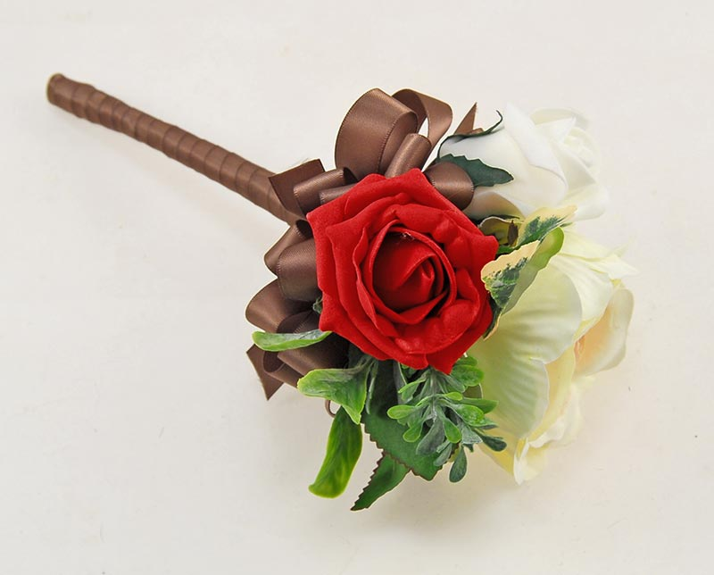 Yazmin Cottage Red Rose & Green Herb Wedding Flower Package