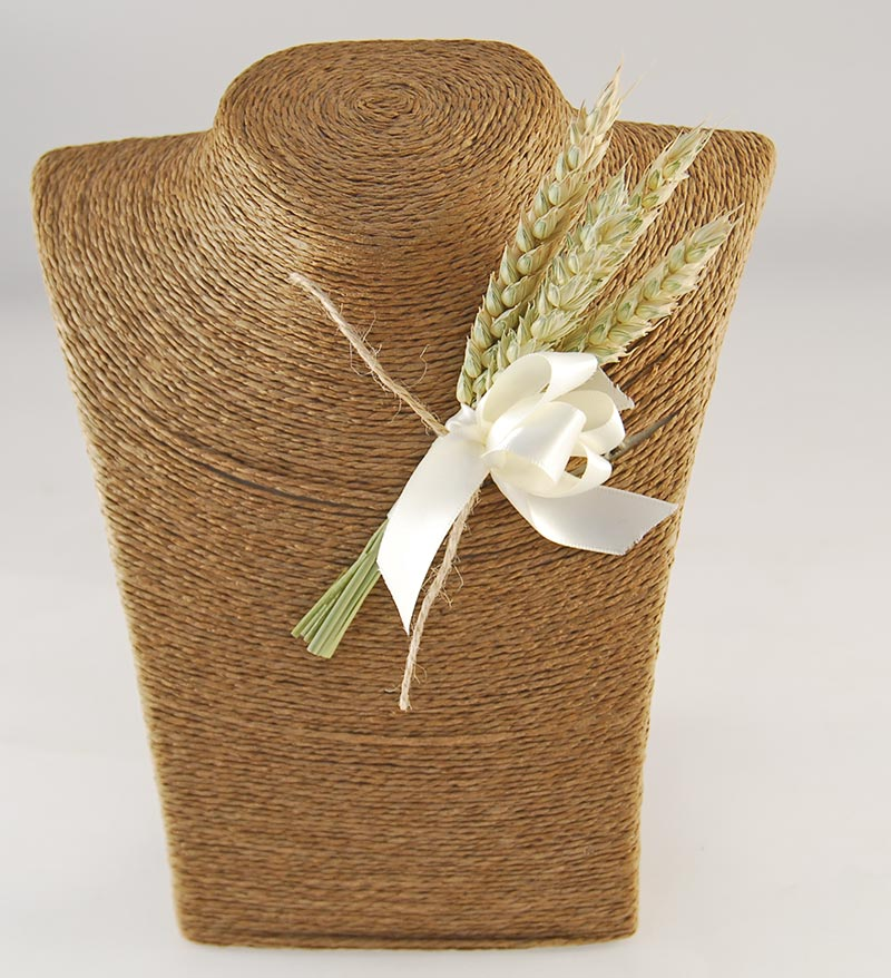 Willow Natural Wheat & Peach Foam Rose Wedding Flower Package