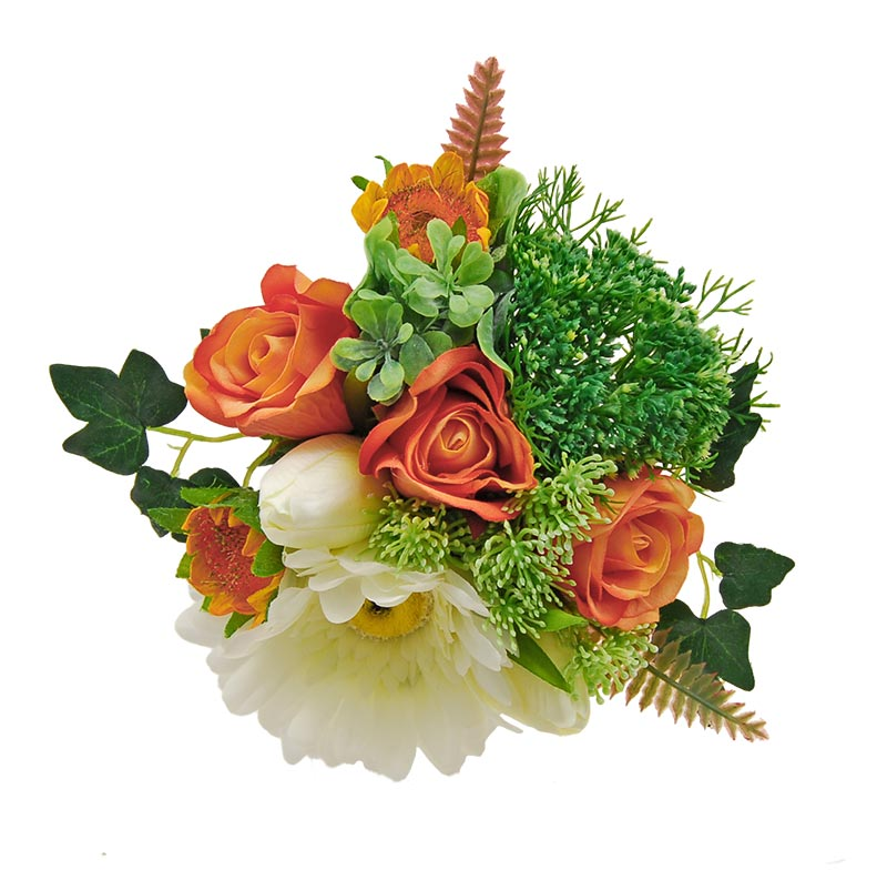 Young Bridesmaids Ivory Gerbera, Tulip & Orange Rose Flower Girl Wedding Posy