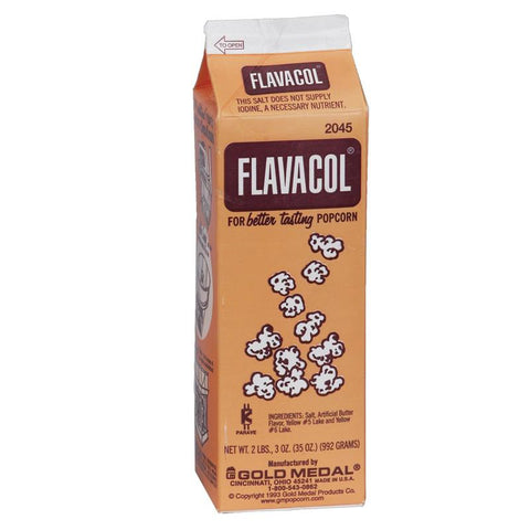 Flavacol Carton 2lbs orange popcorn salt
