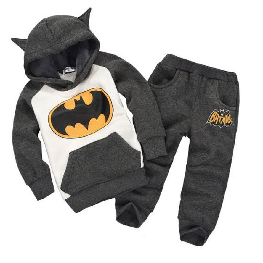 Winter Children's Clothing suits Batman Kids Hoodies + Pants