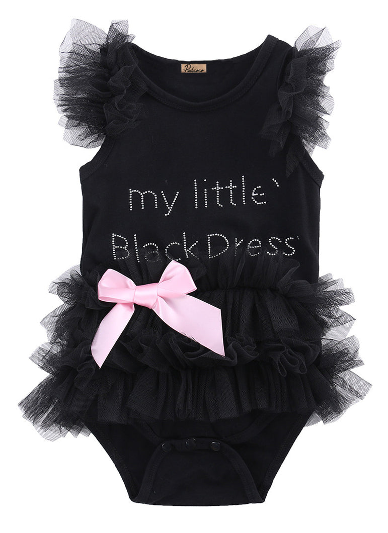 My Little Black Dress Letter Infant Baby Bodysuit