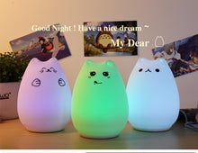 Cartoon Cat Nursery Nightlight For Baby