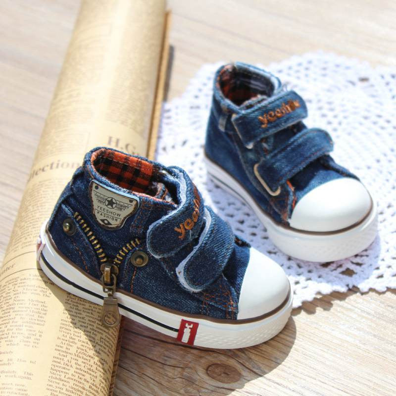 Toddler's Denim Sneakerboots